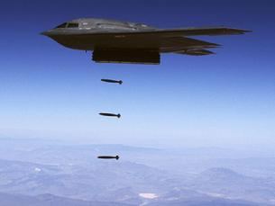 B-2 Spirit dropping J-DAM smart bombs