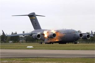 C-17 Globemaster III blows an engine on takeoff