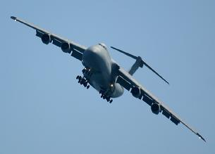 C-5 Galaxy turning final on landing approach