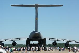 C-5 Galaxy tail view with the doors open