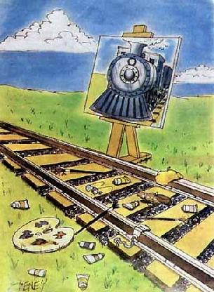 Cal used to paint trains