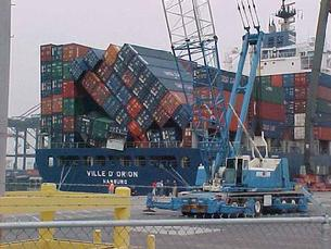 Cal used to stack containers