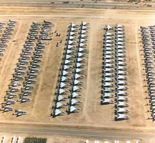 Davis Monthan AFB has row after row and acre after acre of aircraft ready to donate parts