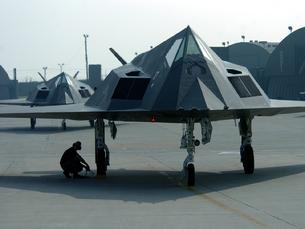 F-117 Nighthawk nose view