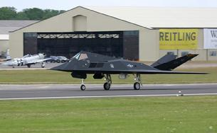 F-117 Nighthawk taxiing for departure