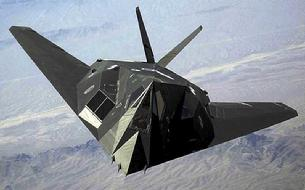 F-117 Nighthawk front overhead view