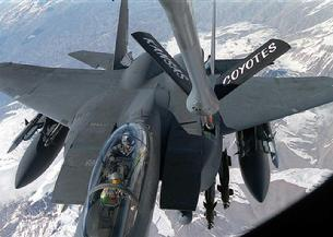 F-15 Eagle being air re-fueled