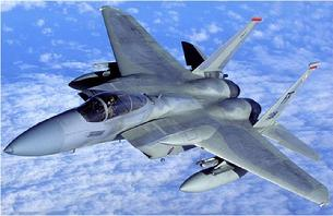 F-15 Eagle top view