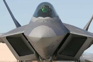 F-22 Raptor nose view