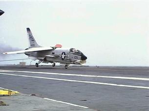 F-8 Crusader carrier landing