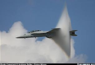 FA-18F Hornet breaking the sound barrier