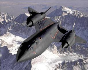 SR-71 Blackbird overhead view